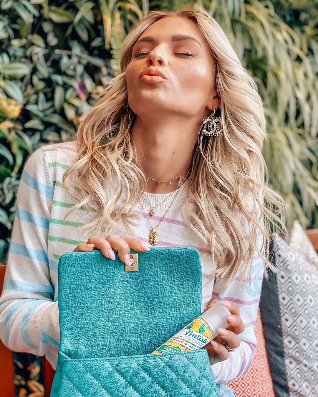 Irina Baeva blond hairs, Outerwear, street fashion