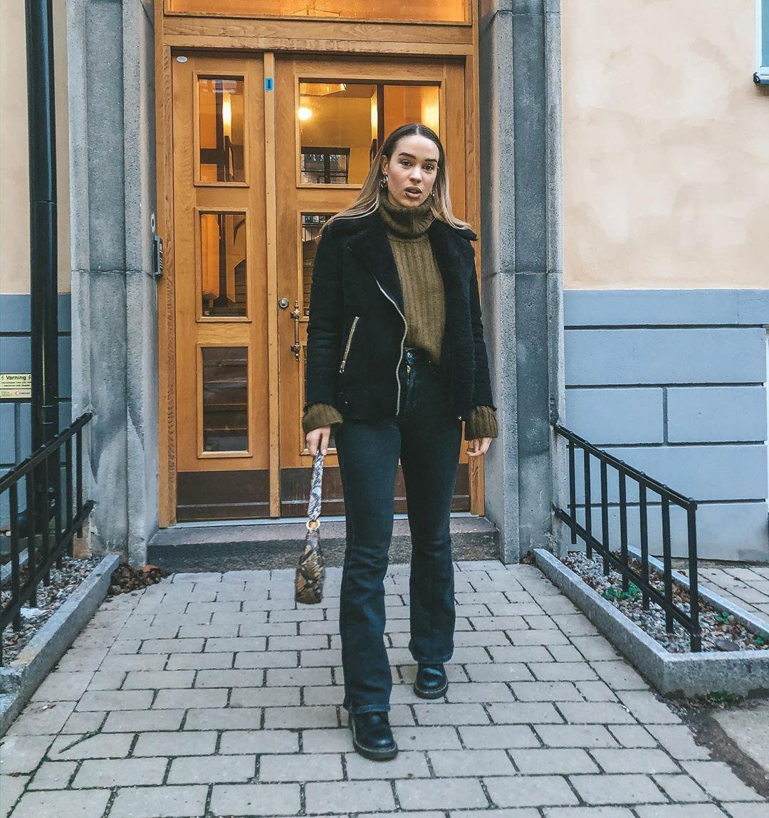 Isabelle Tounsi leather jacket, leather, jacket outfit ideas