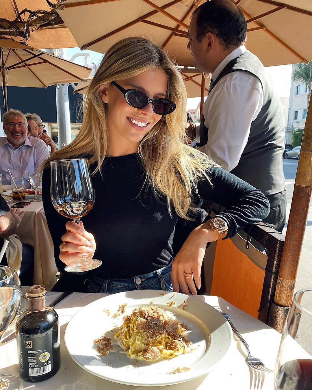 Natasha Oakley eyewear, restaurant, vacation
