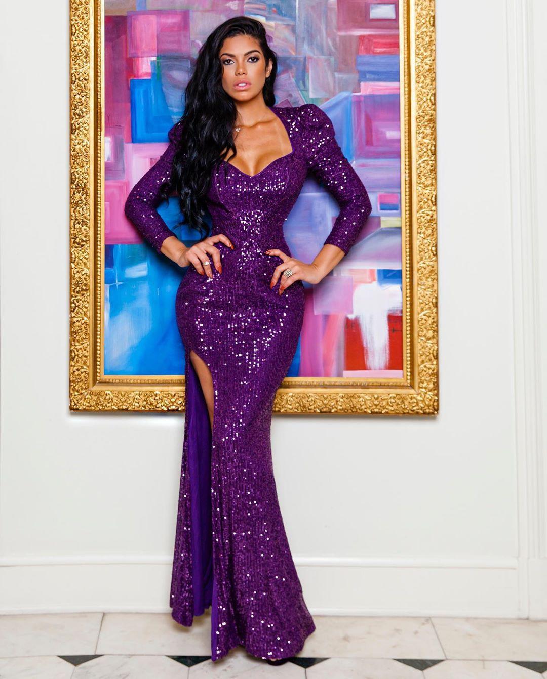 Magenta and purple dress, gown formal wear, sari
