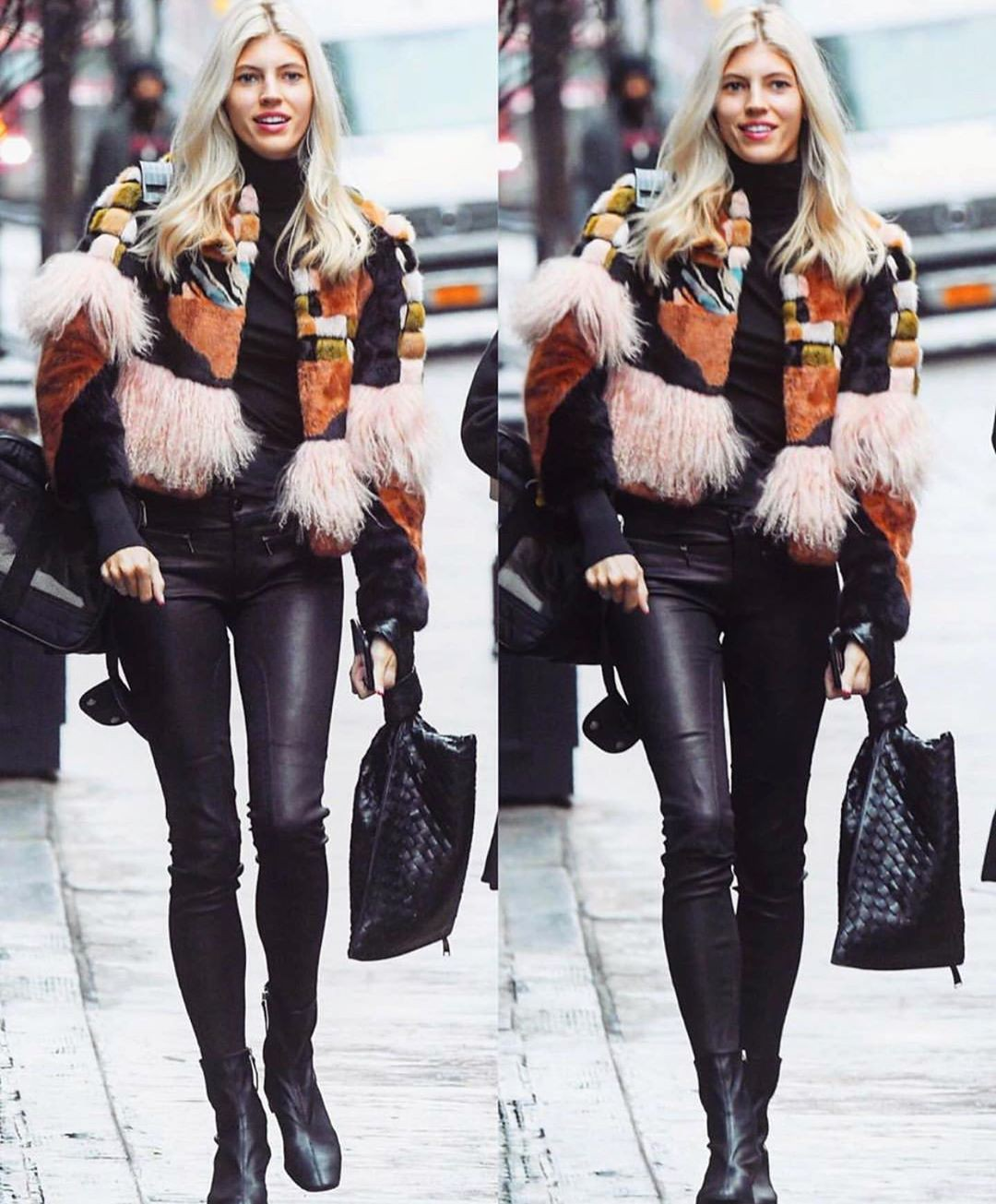 Devon Windsor fur clothing, jeans, fur colour combination