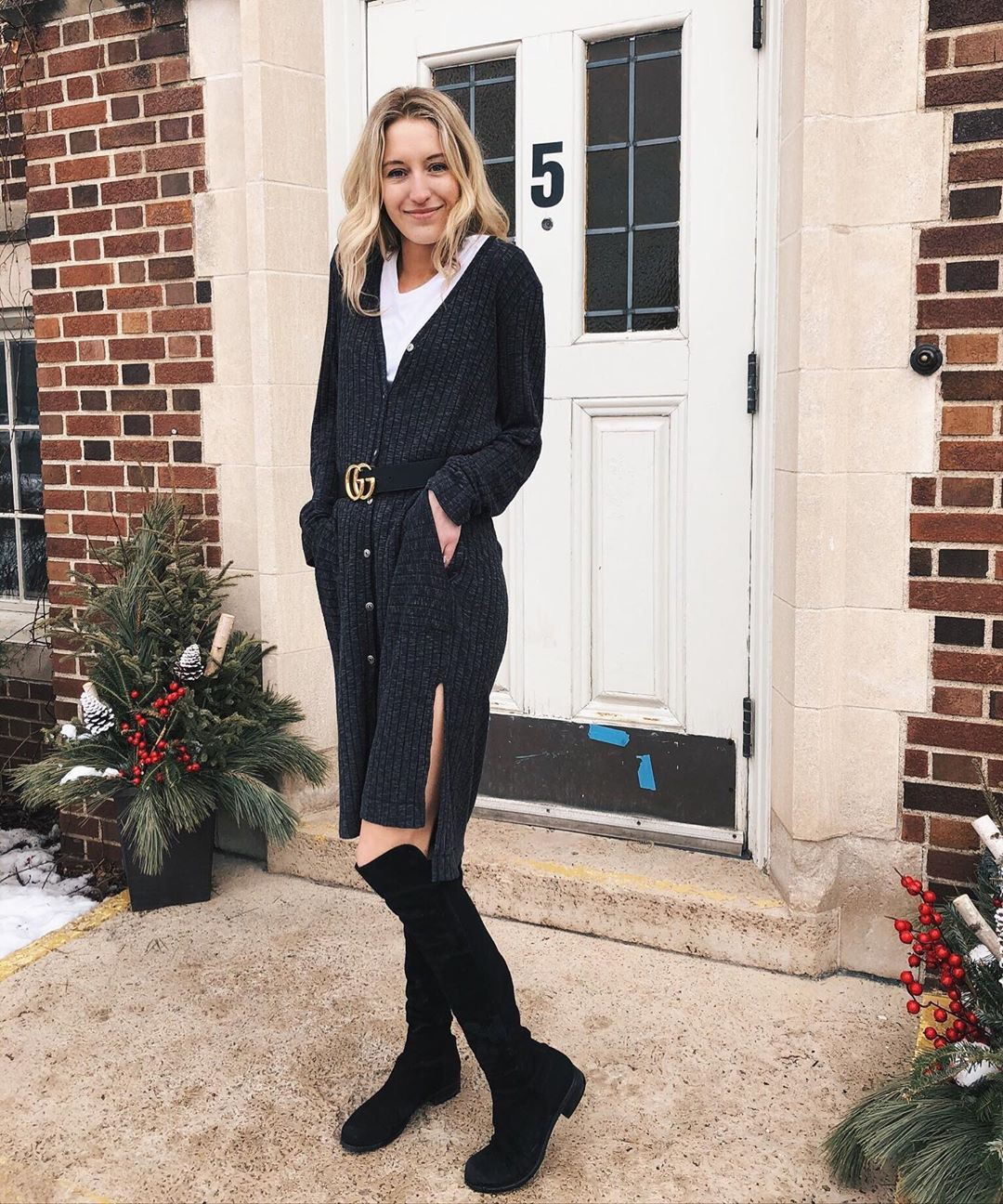 black colour ideas with knee-high boot, blazer, riding boot