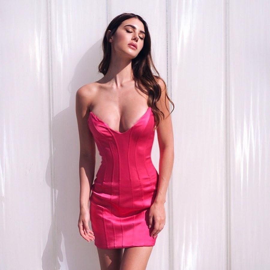 Magenta and pink cocktail dress, lingerie, dress nightwear