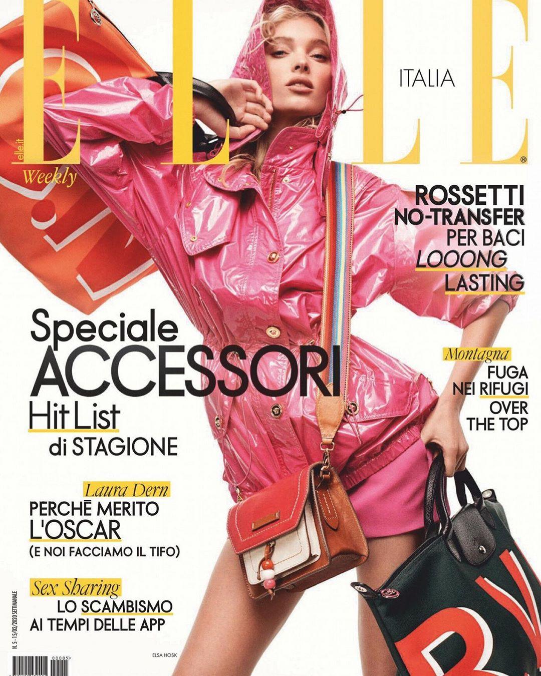 Elsa Hosk, magazine, pink