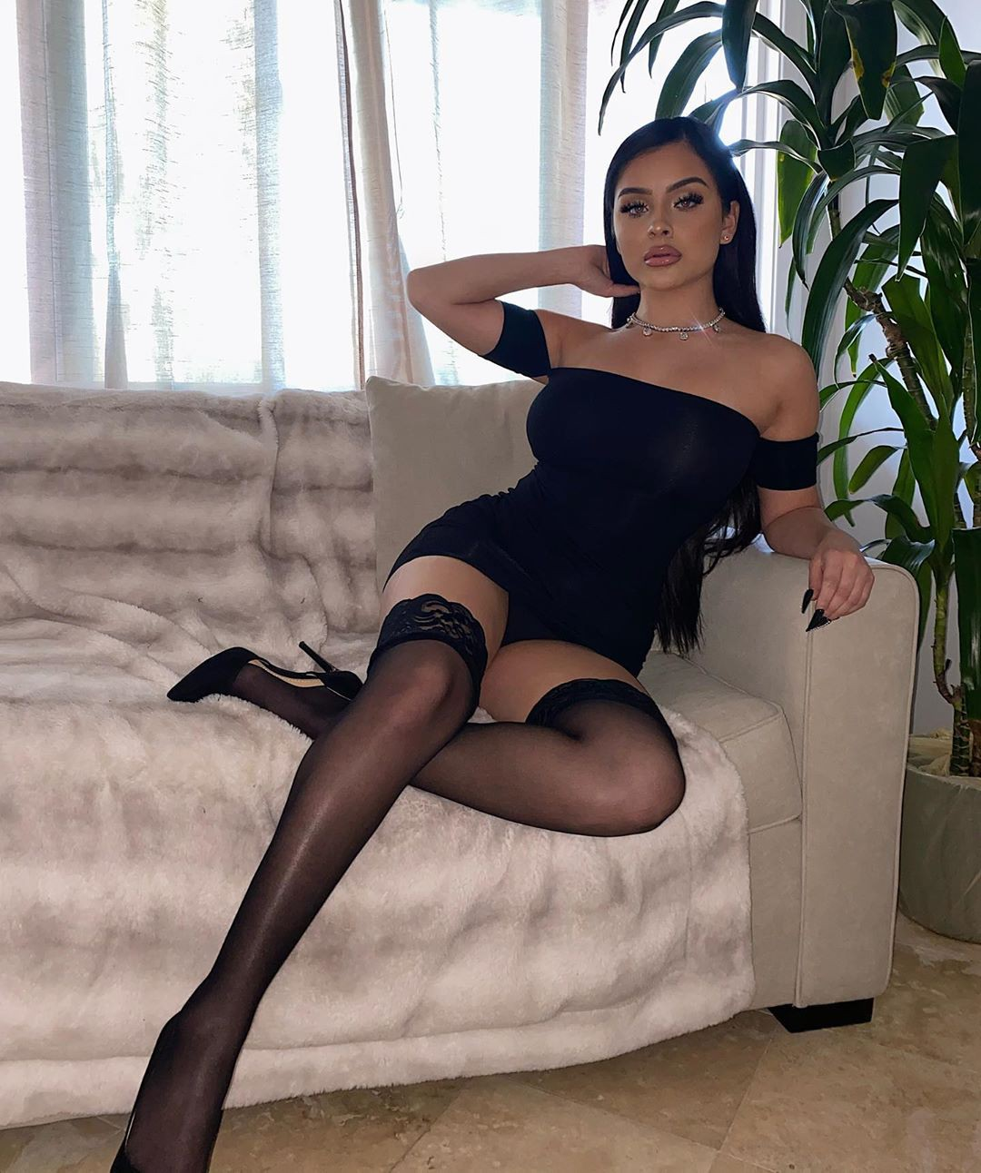 Aidette Cancino fetish model, pantyhose, stocking outfits for women