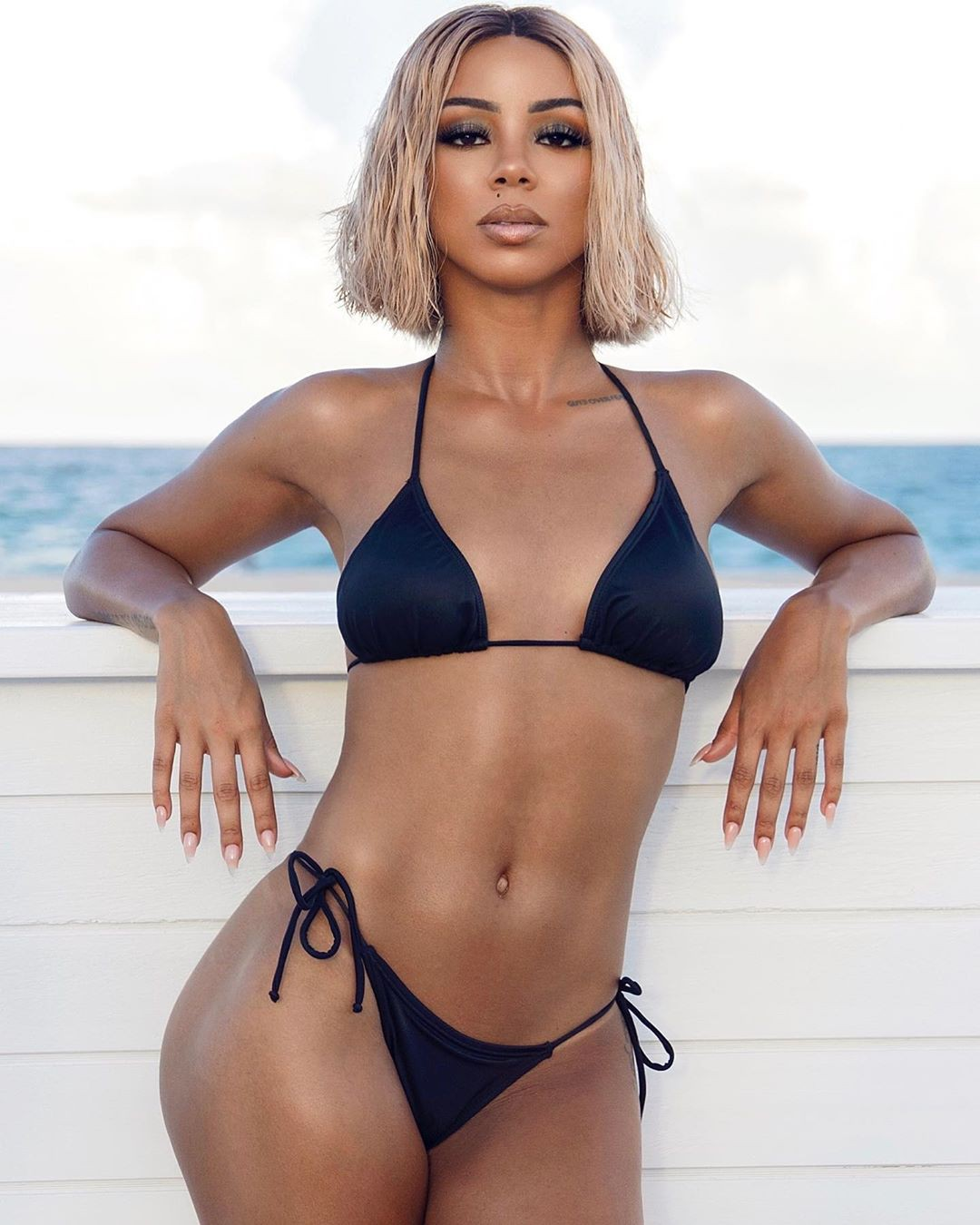 Brittany Renner lingerie, bikini swimsuit top, swimwear outfits for girls