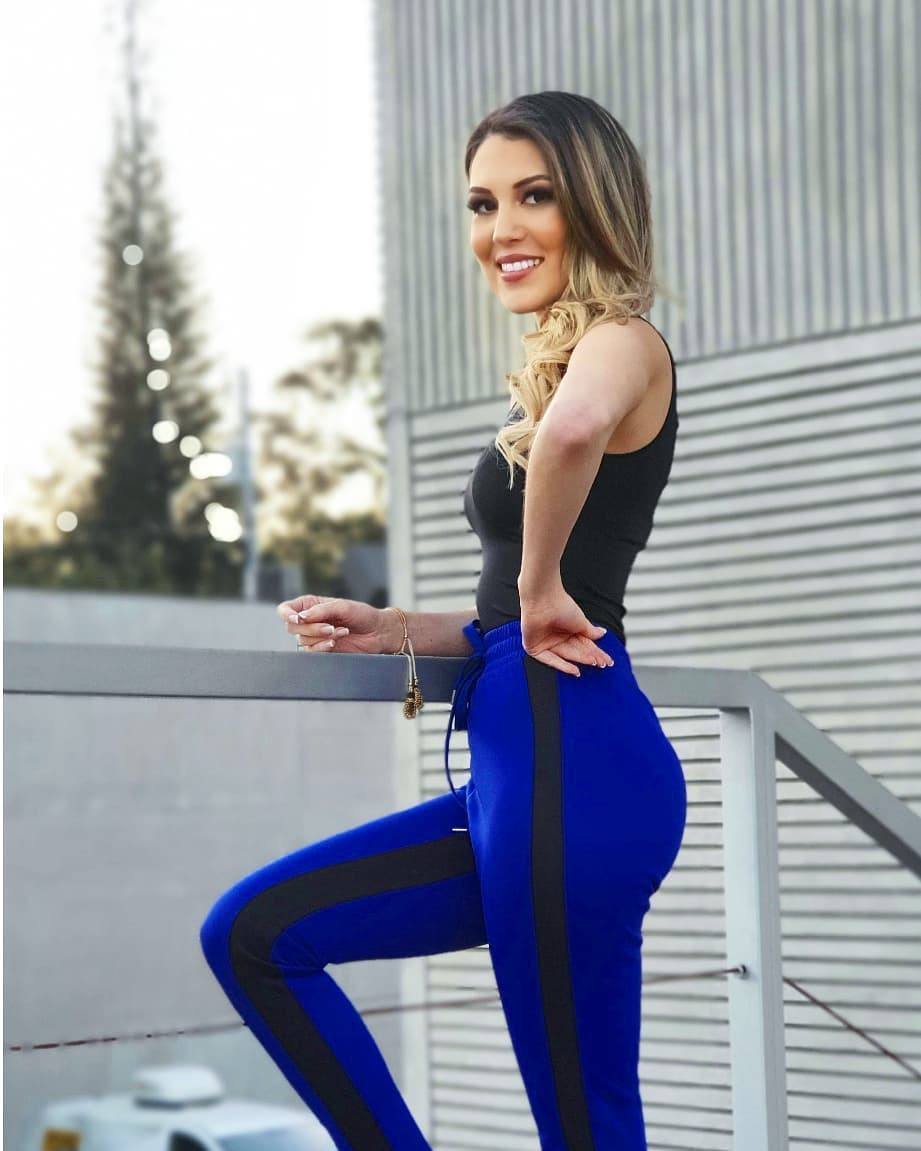Electric blue and cobalt blue dress leggings, tights