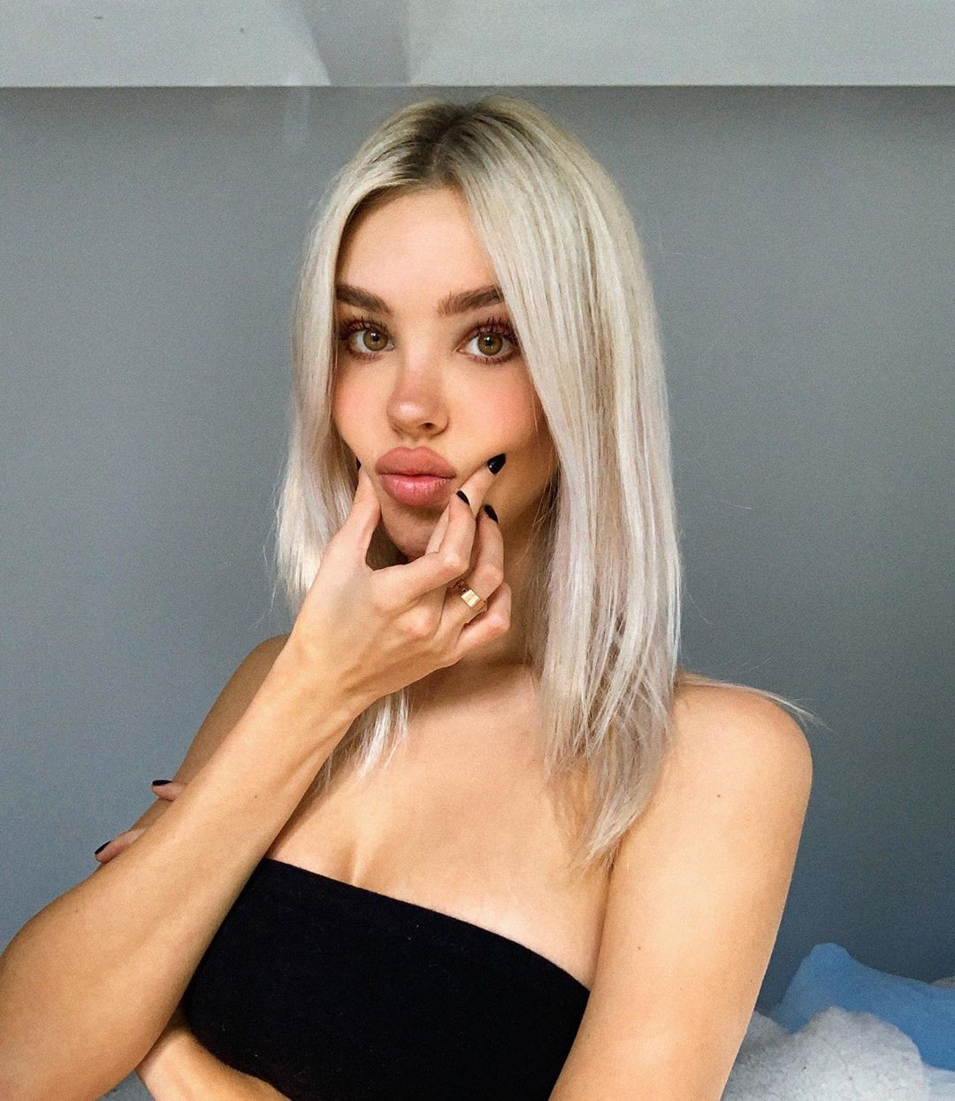 Maria Domark blond hairs pic, Cute Girls Face Instagram, Lips Smile