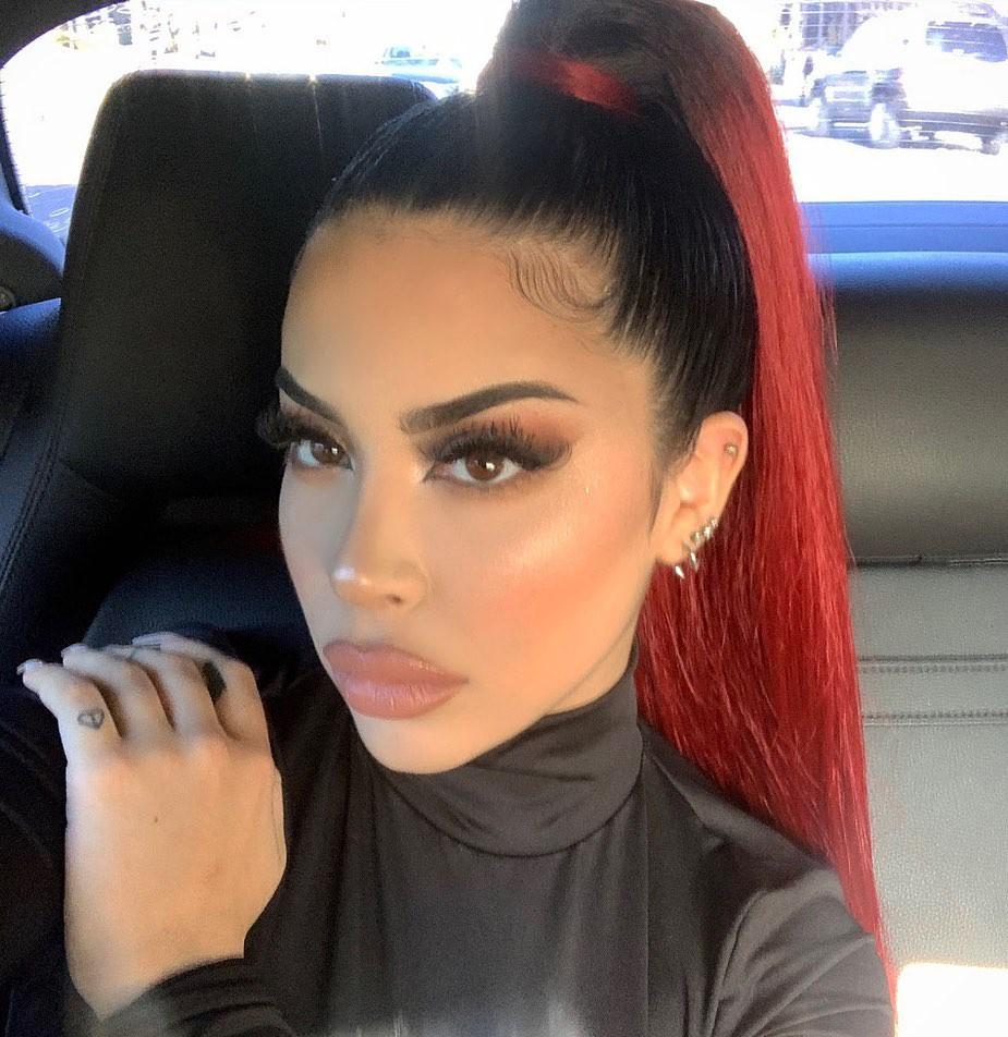Valeria Black Hair For Girls, Pretty Look, Glossy Lips
