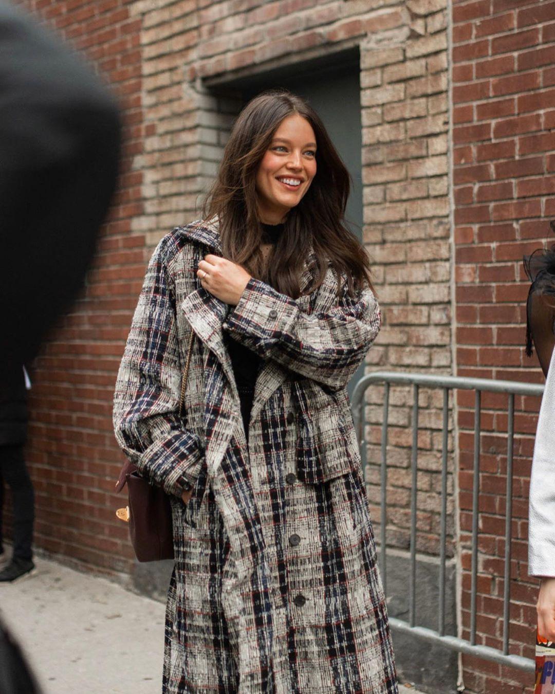Emily DiDonato tartan, fur dress for girls, outfit designs