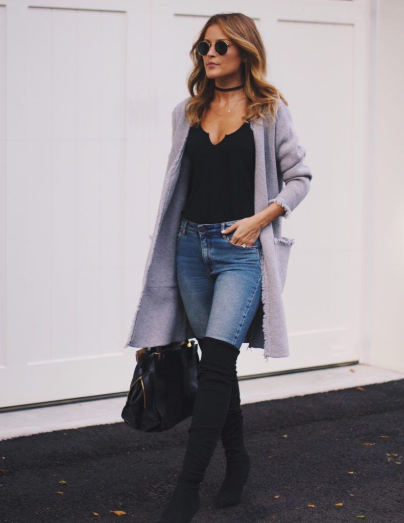 Black long boots outfits thigh high boots, knee high boot