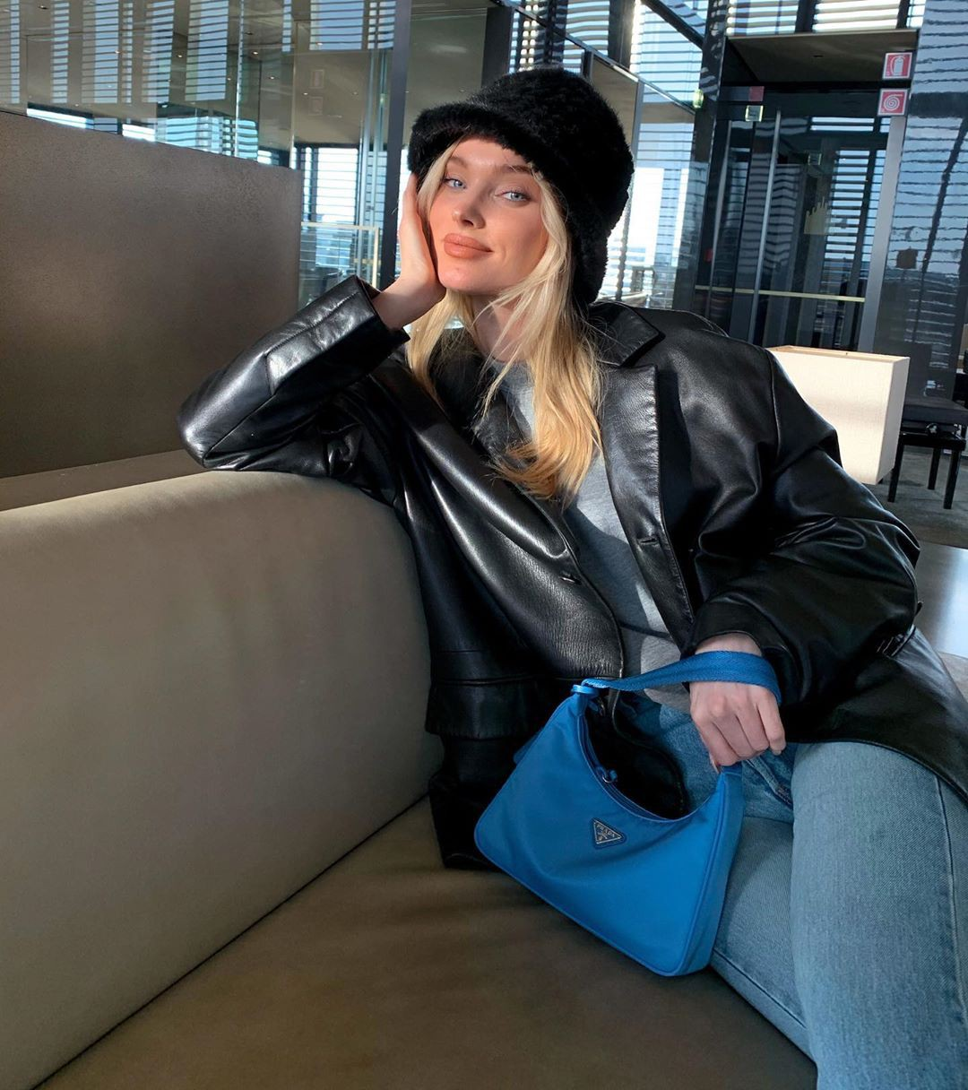 Elsa Hosk leather jacket, leather, jacket dresses ideas