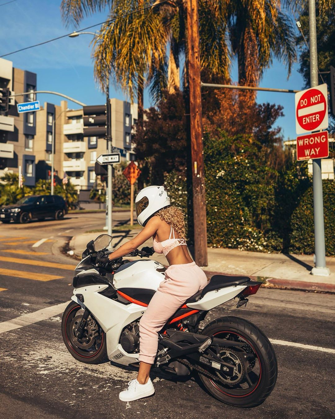 Jena Frumes photography for girl, automotive design, motorcycle
