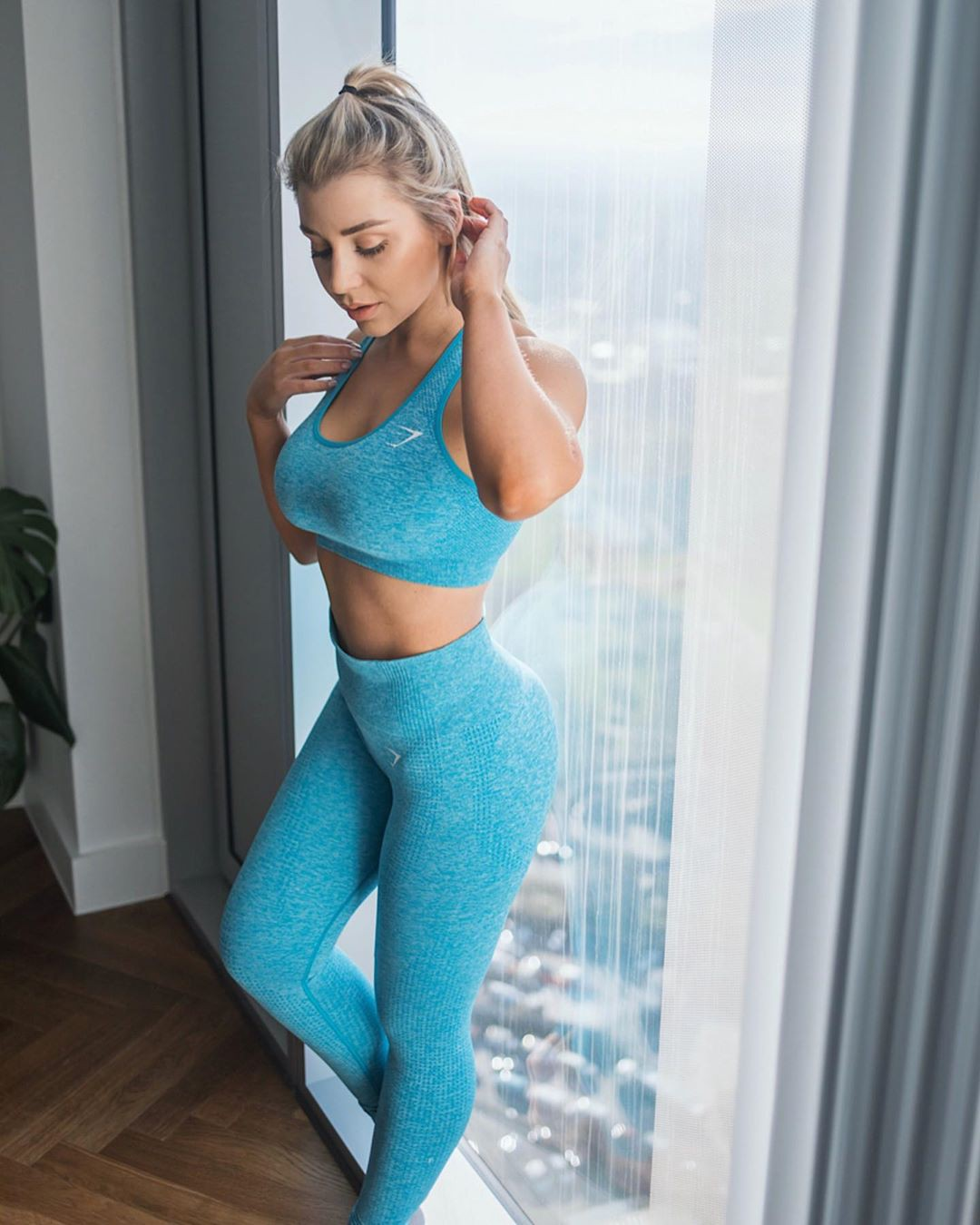 Turquoise and teal active pants, sportswear, costumes designs