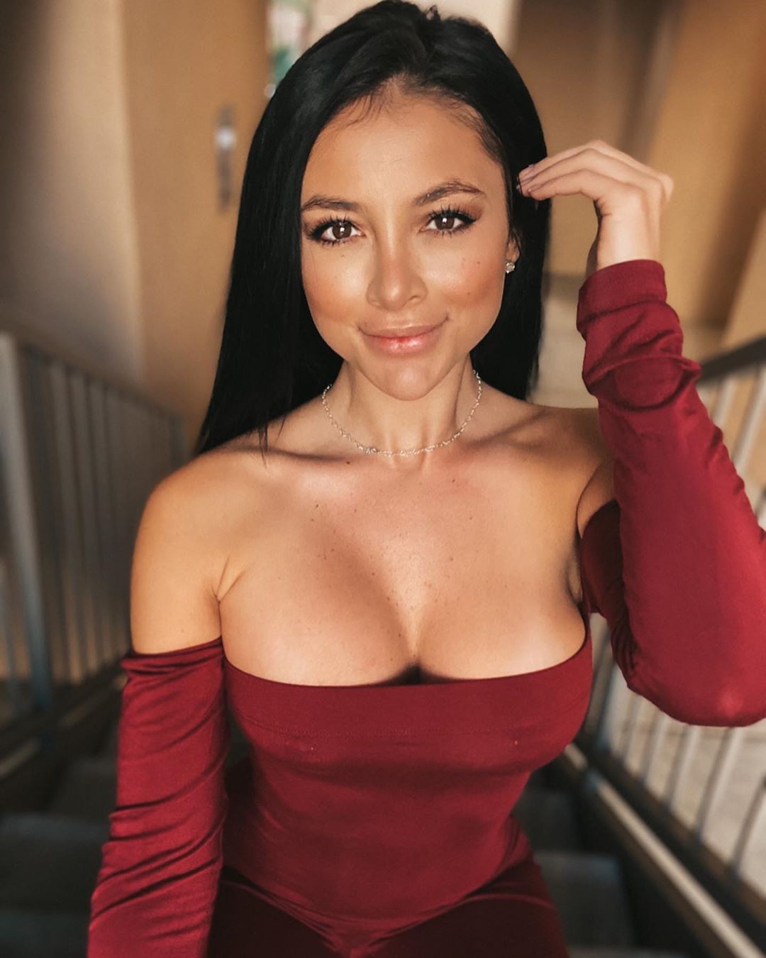 Gabriella Ellyse Black Hair Color, Lovely Face, Glossy Lips