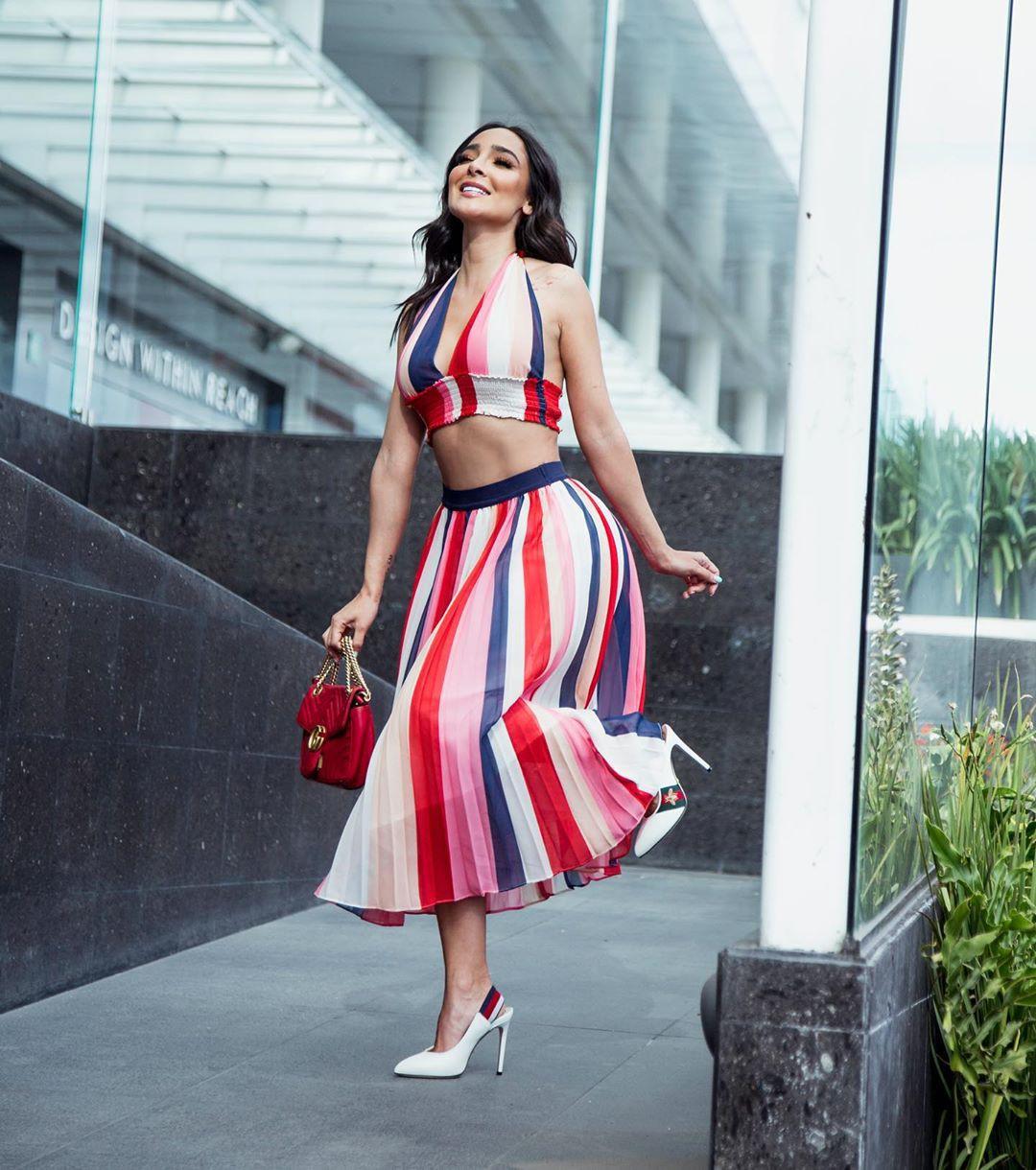 Manelyk Gonzalez dress crop top matching dress, fashion photoshoot