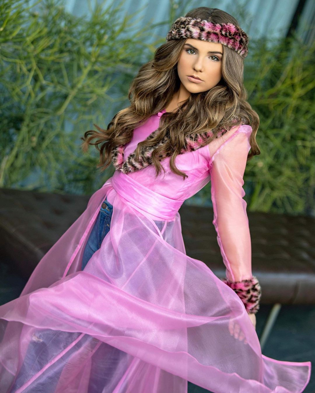 pink clothing ideas with dress, gown, Long Hair Ideas