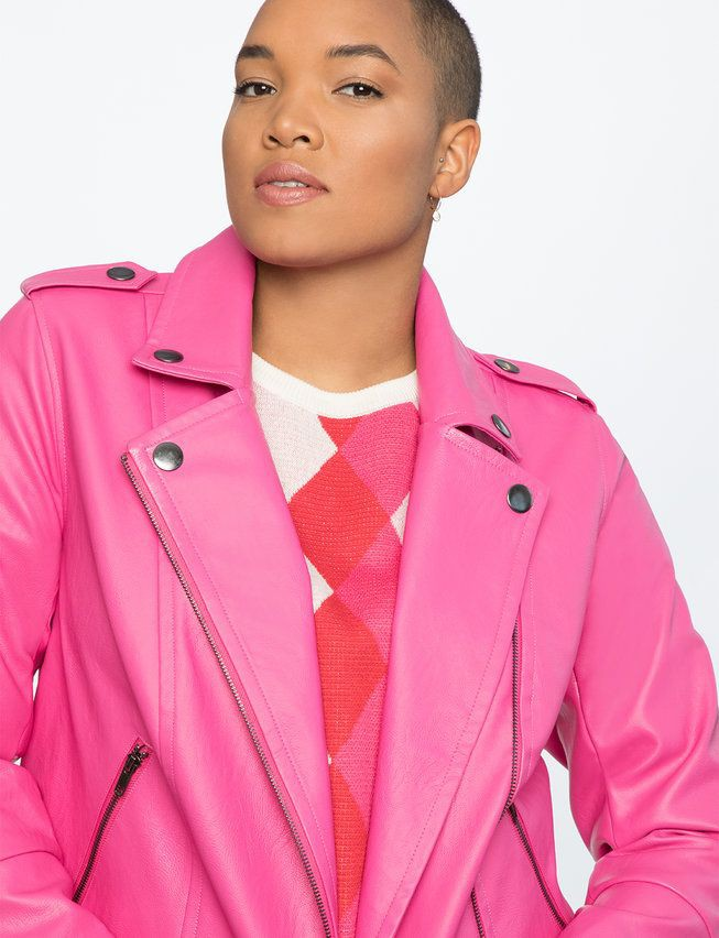 Magenta and pink dresses ideas with leather jacket, blazer, jacket