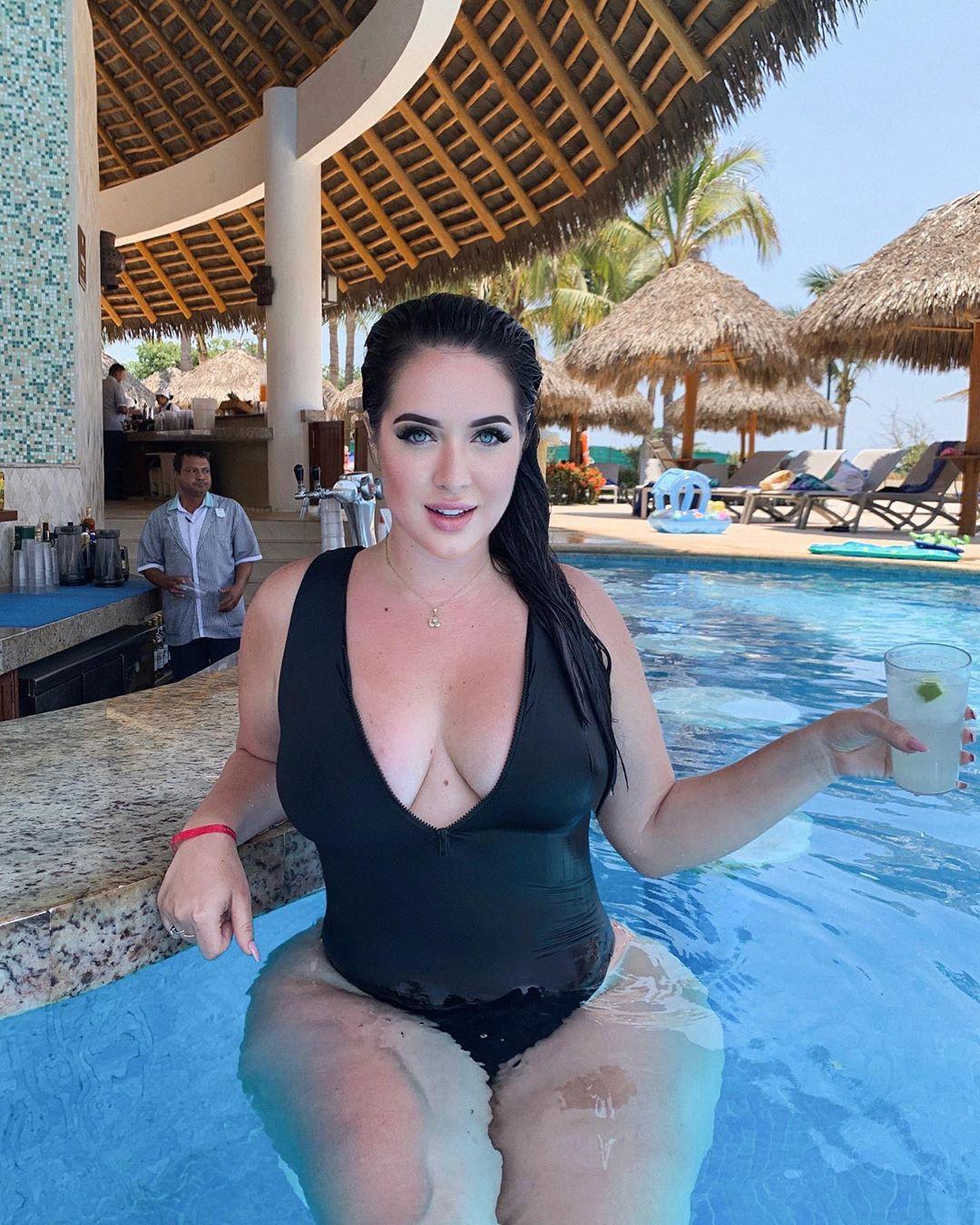 Holly Luyah bikini style inspiration swimwear attire, fine legs