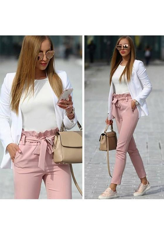 Outfits pantalon con lazo, casual wear, bow tie
