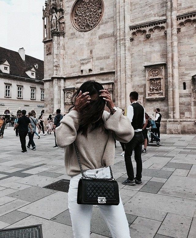 Colour outfit, you must try st. stephans cathedral black and white, street fashion