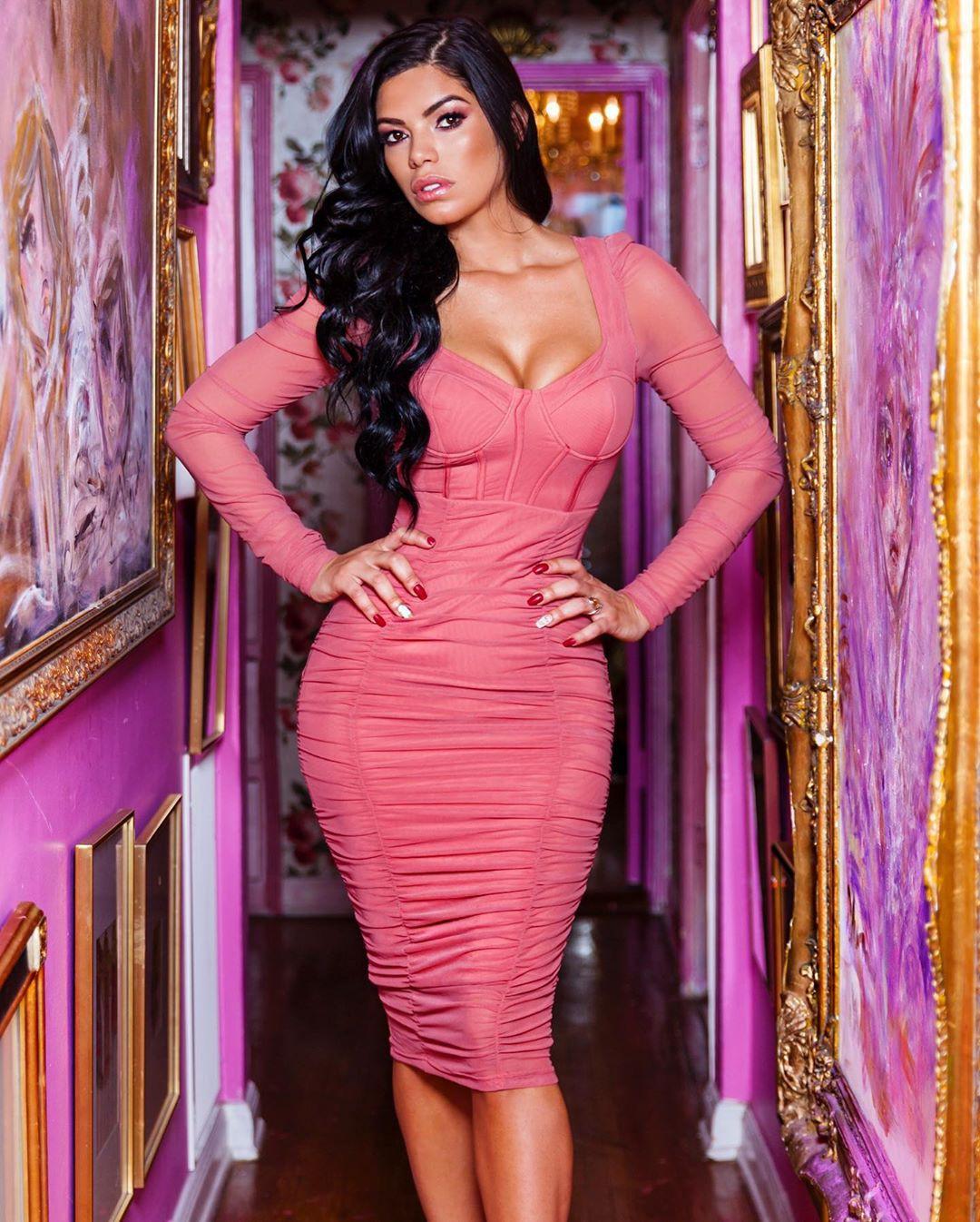 Magenta and purple cocktail dress, fashion ideas