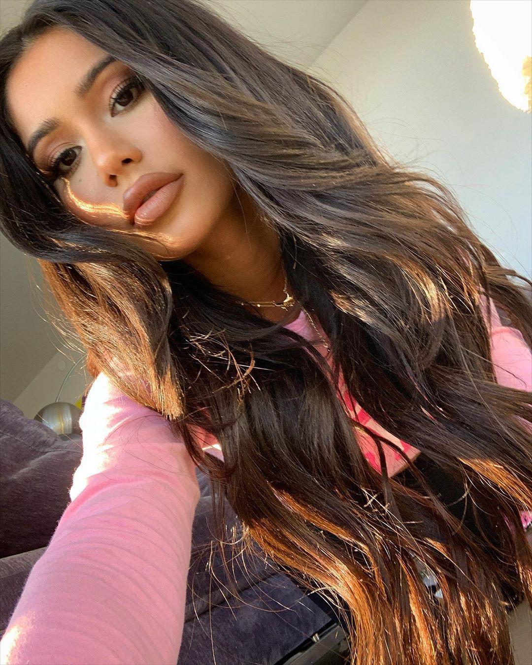 Janet Guzman Bautiful Face, Lip Makeup, Woman Long Hair Style