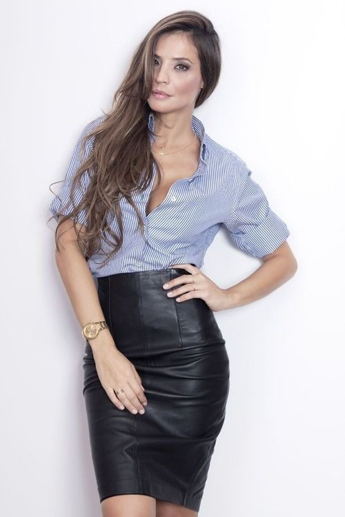 Black colour outfit ideas 2020 with leather skirt, pencil skirt, trousers