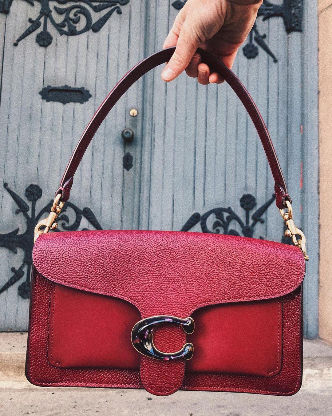 Magenta and brown fashion accessory, leather, handbag, bag