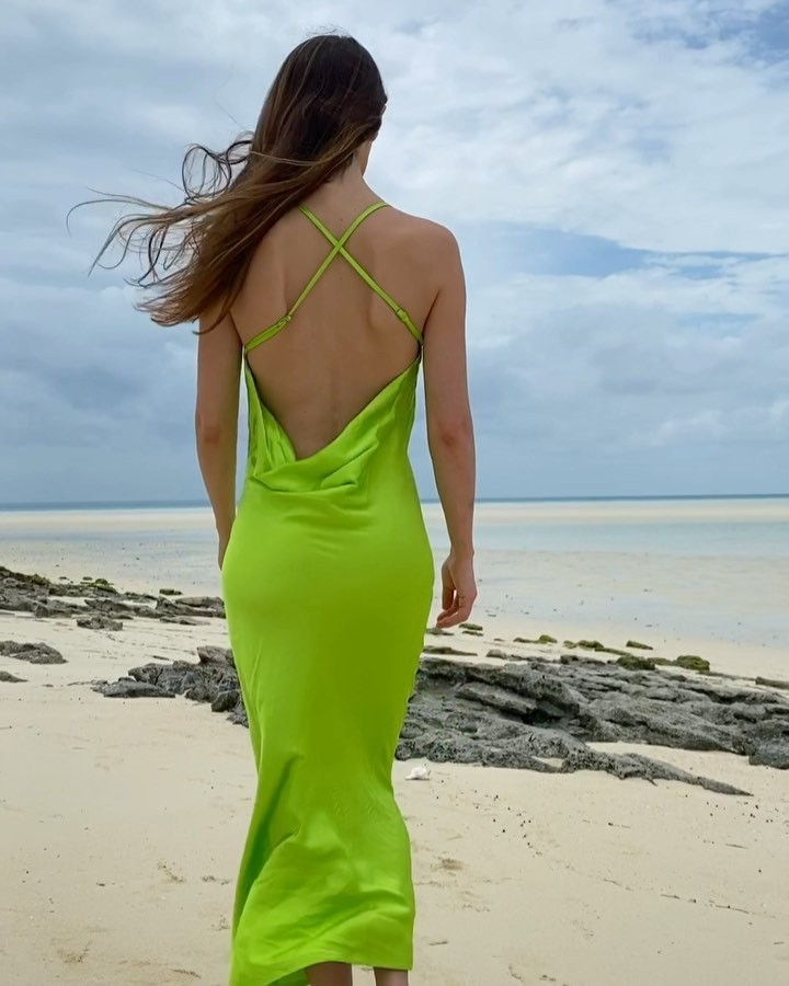 Yellow and green cocktail dress, outfit ideas