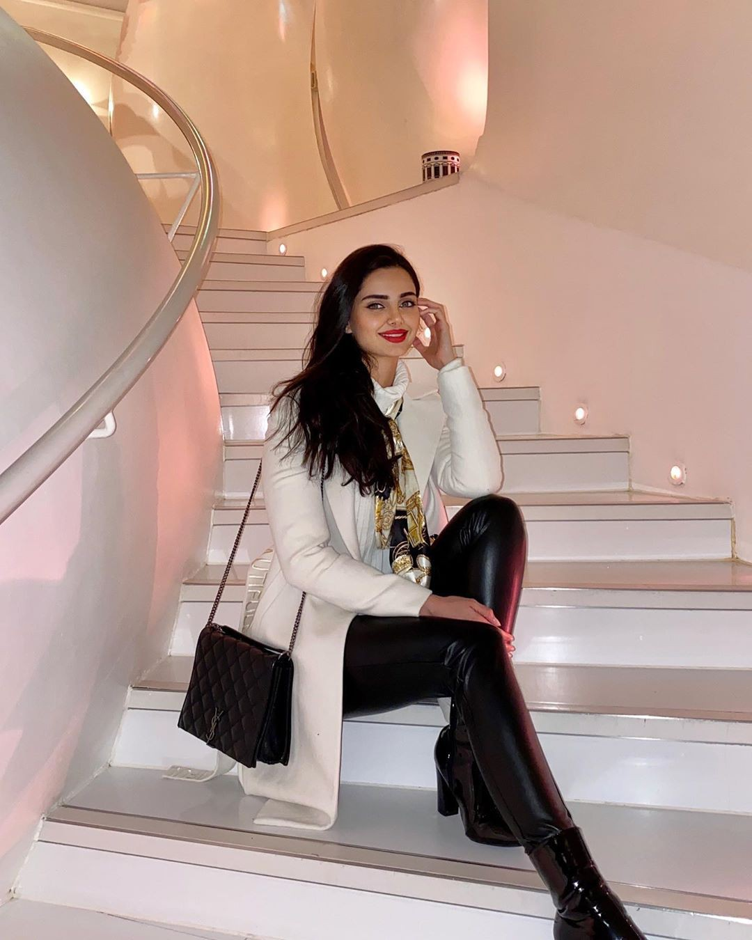 Mahlagha Jaberi legs picture, outfit ideas, outerwear