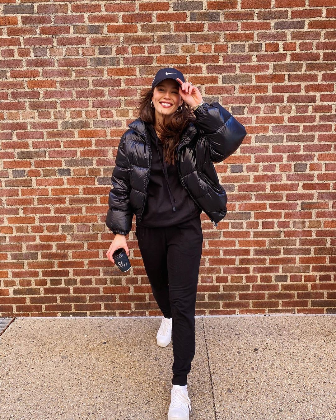 Emily DiDonato leather jacket, leather, beanie outfits for girls