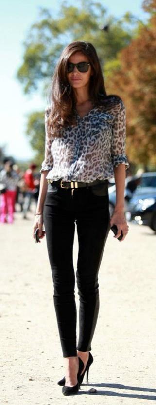 Black skinny jeans heels high heeled shoe, slim fit pants