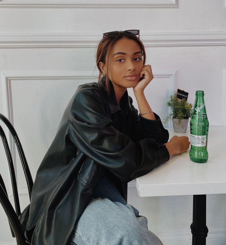 Daniella Perkins jacket clothing ideas, Long Hair Girl, outfit designs