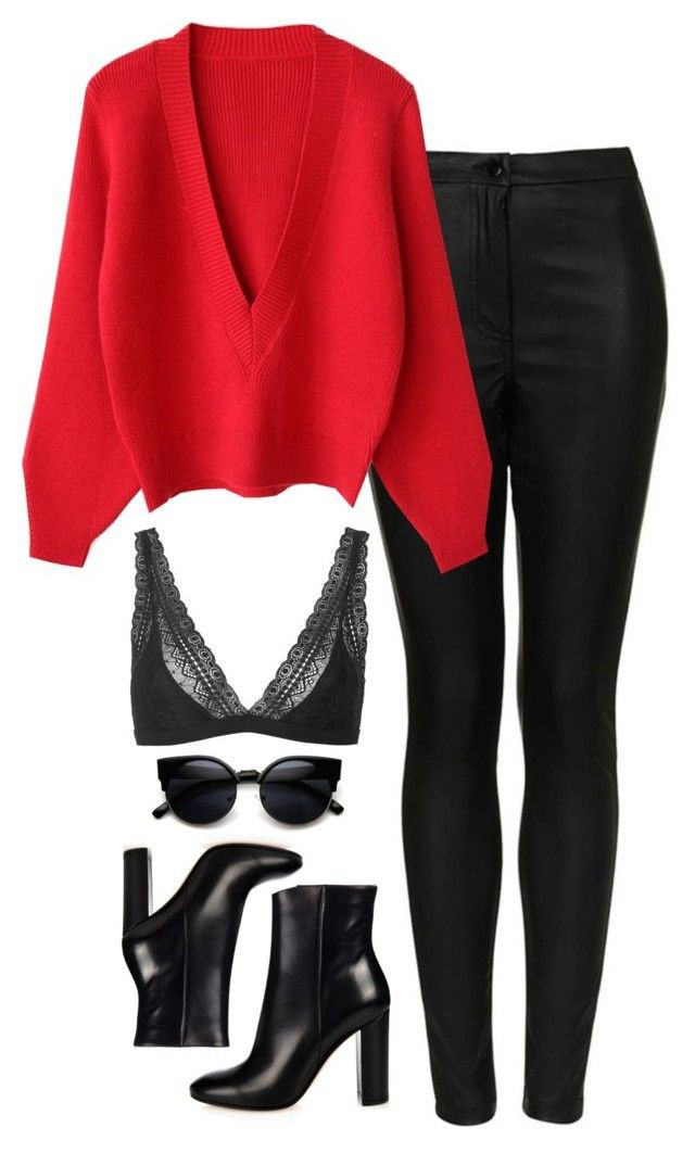 Pink and red classy outfit with fashion accessory, leggings, skirt