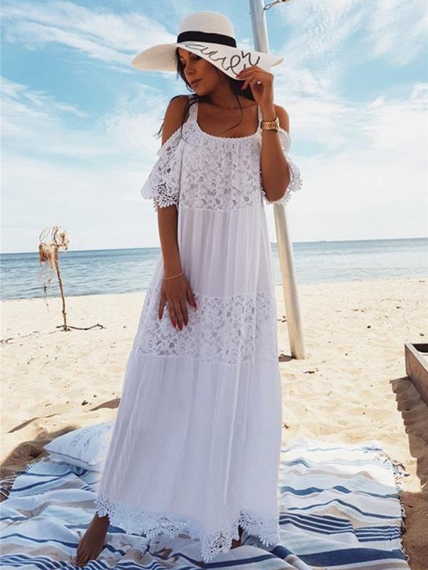 Vestidos blancos largos de playa