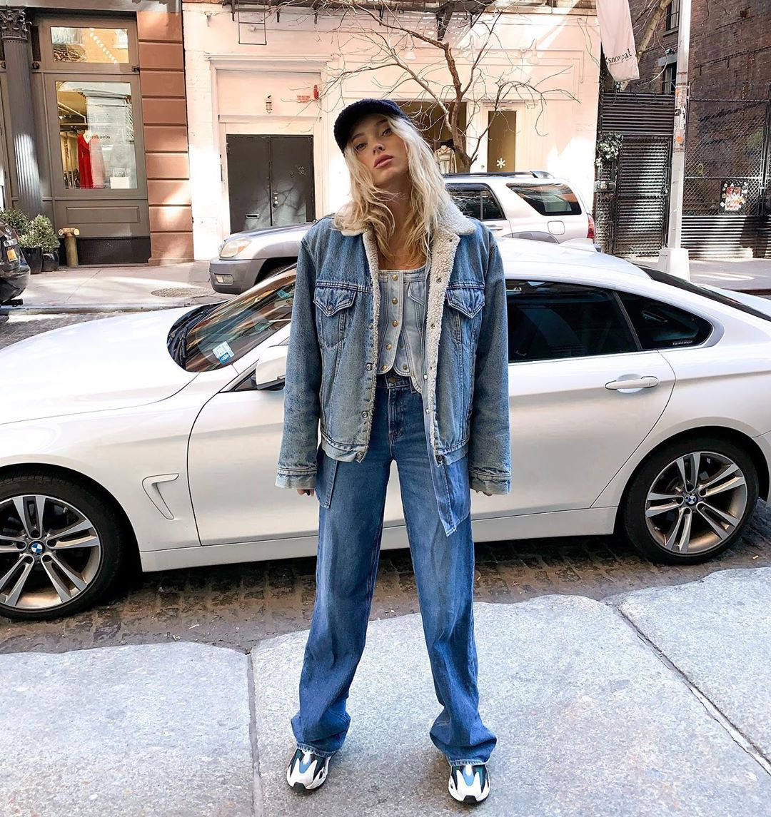 Elsa Hosk jeans dress for women, costumes designs, personal luxury car