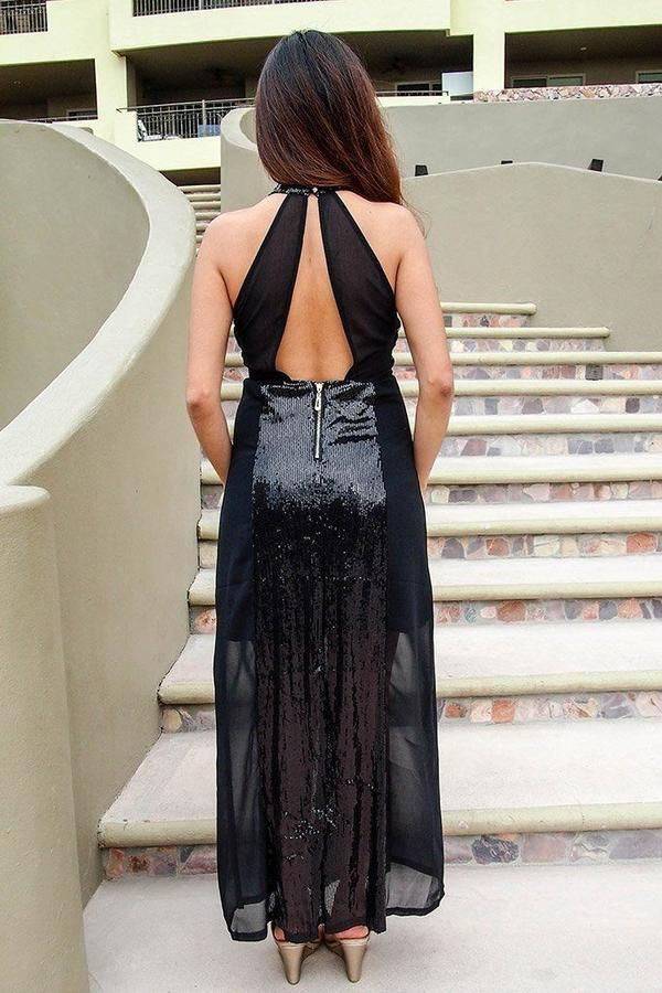 black outfit style with dress, legs photo, Woman Long Hair Style