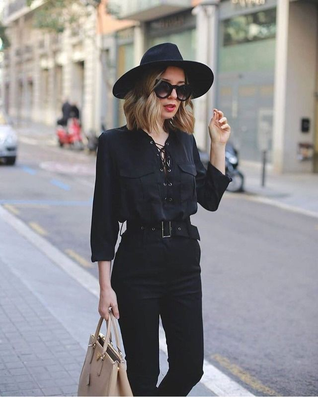 Black and white designer outfit with fashion accessory, blazer, fedora