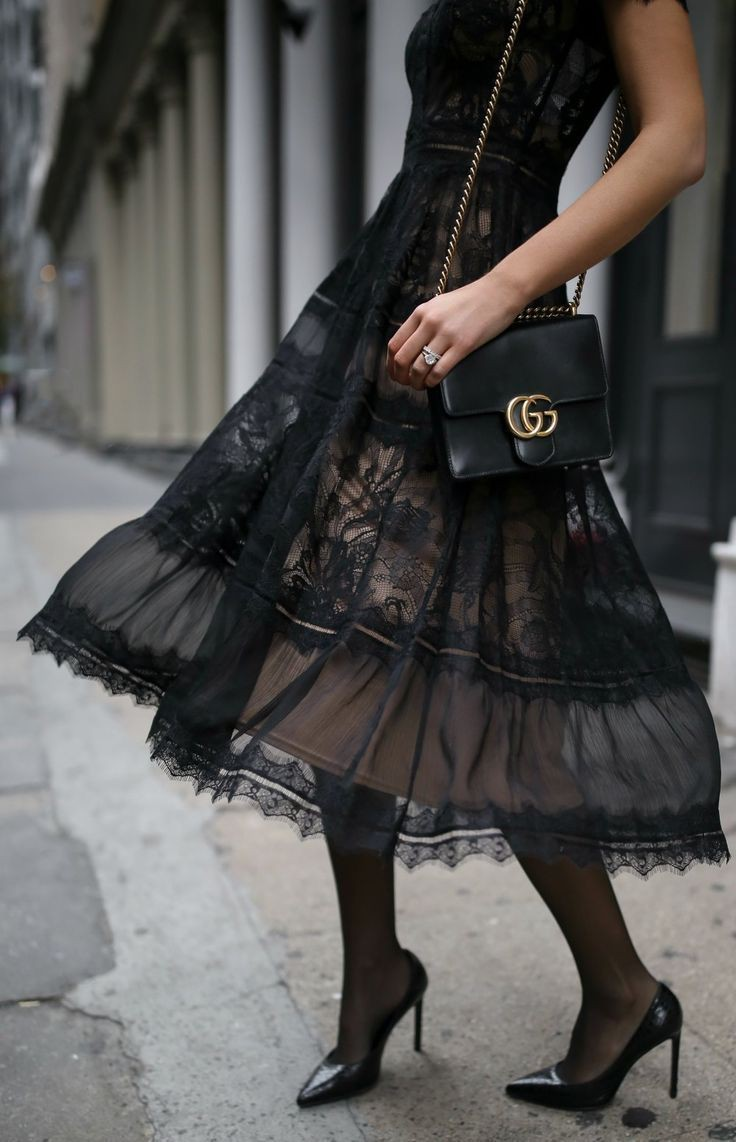 Black colour outfit, you must try with cocktail dress