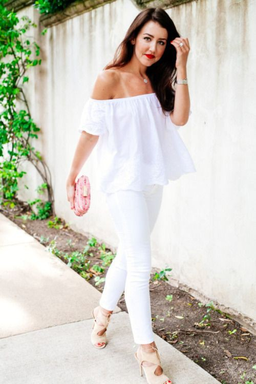 White and pink style outfit with party dress, trousers, leggings