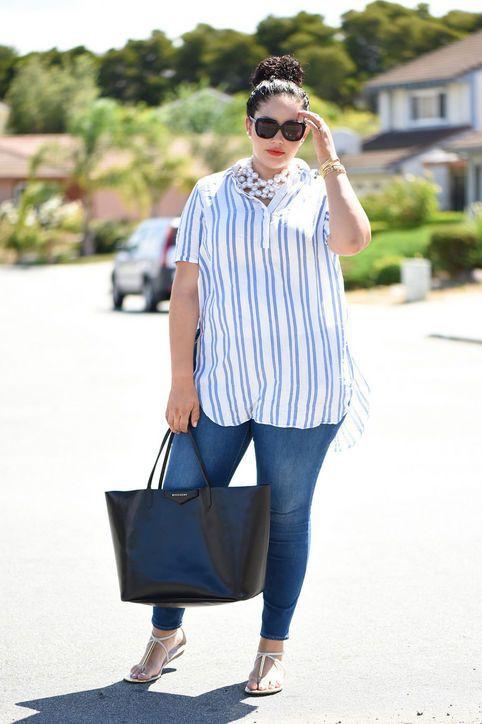 White and blue beautiful clothing ideas with dress shirt, shirt, denim