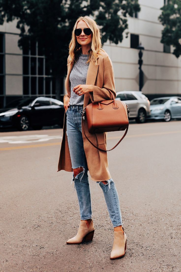 Brown colour outfit, you must try with ripped jeans, trousers, denim