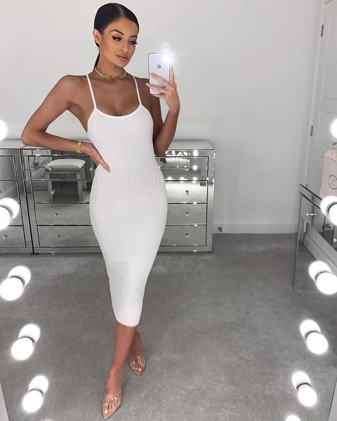 white outfits for girls with dress, legs pic, attire ideas