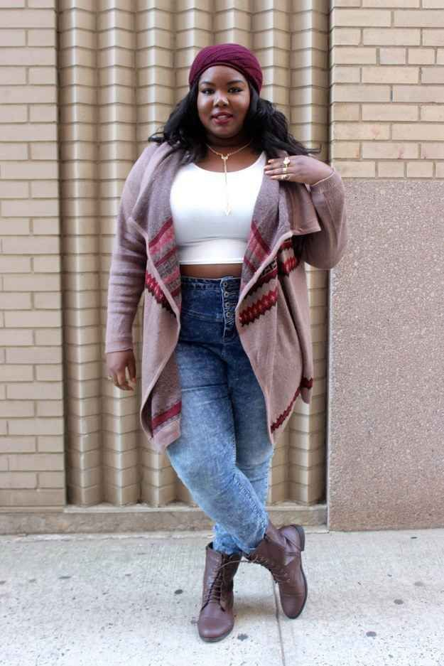 Plus size cute winter outfits