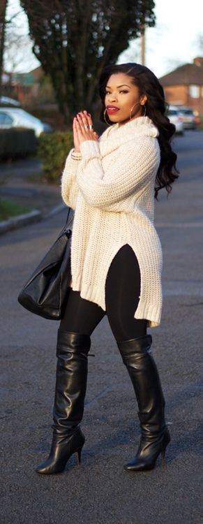 Womens plus size winter outfits