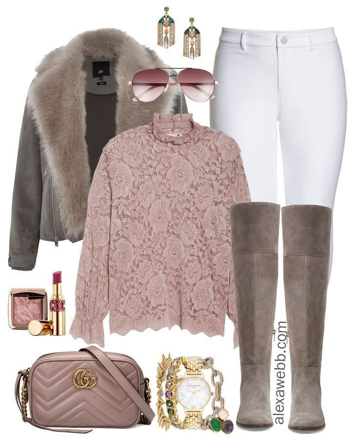 White winter top and jeans