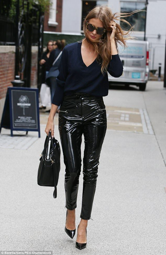 Millie mackintosh pvc trousers made in chelsea, millie mackintosh