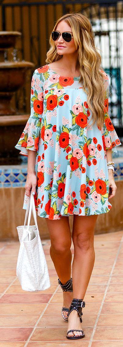 Vestido floral de verão