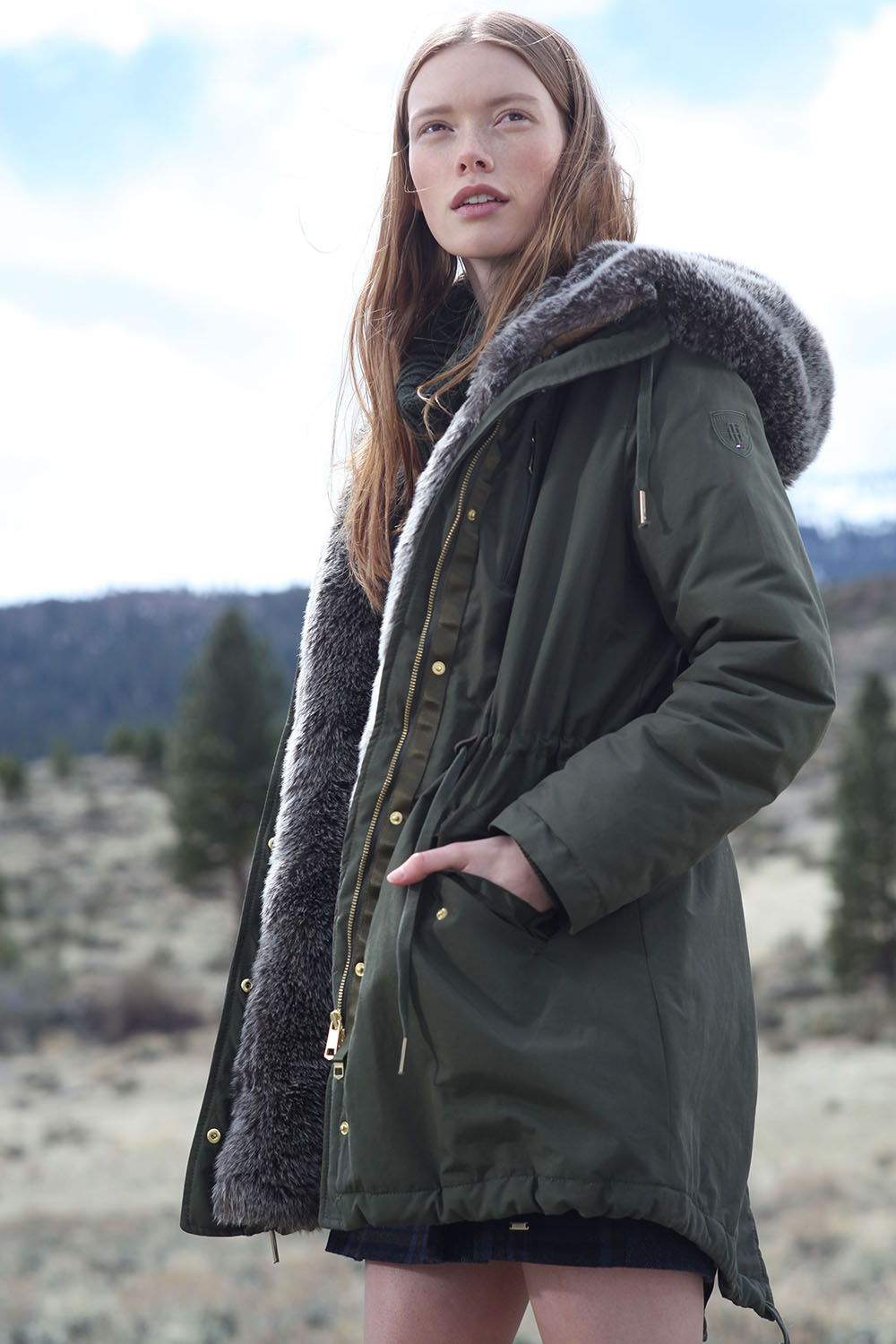 Green colour outfit, you must try with jacket, parka, coat